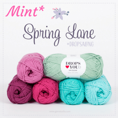 DROPS-Along : Spring Lane (22 nøgler DLY8) - MINT
