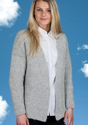 1550 Kort Cardigan i Mayflower Sky
