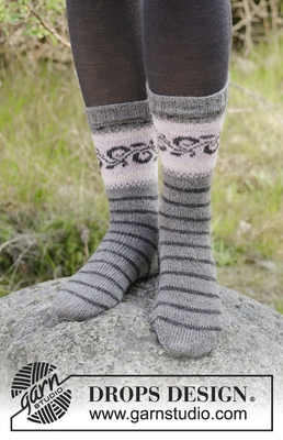 179-11 Telemark Socks by DROPS Design