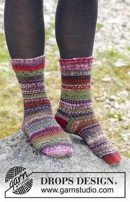 179-21 Rock Socks by DROPS Design