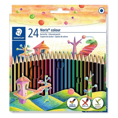 STAEDTLER Noris colour 185, farveblyanter, 24 stk