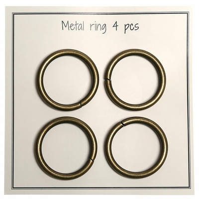 Go Handmade Metal O-ring, 4 stk, 28mm 48 Bronze