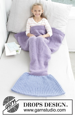 28-12 Cute Mermaid Blanket by DROPS Design