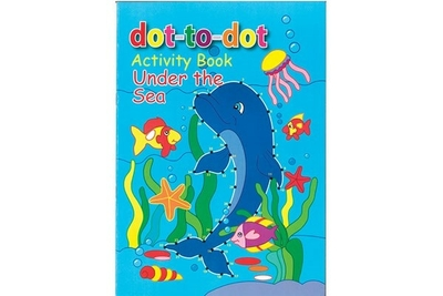 Malebog Dot-to-dot A4 Under the sea, 16 sider