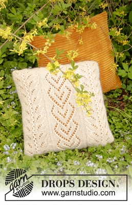 198-23 The Pearl Pillow by DROPS Design