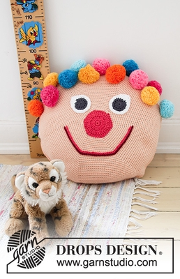 35-1 Bongo the Clown Pillow by DROPS Design