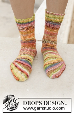 198-20 Country Fair Socks by DROPS Design