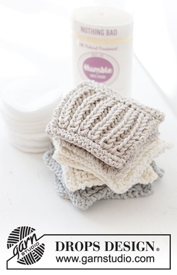 0-1495 Ribbed Scrubbies by DROPS Design