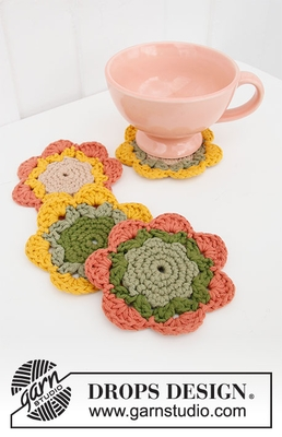 0-1499 Blooming Coasters by DROPS Design