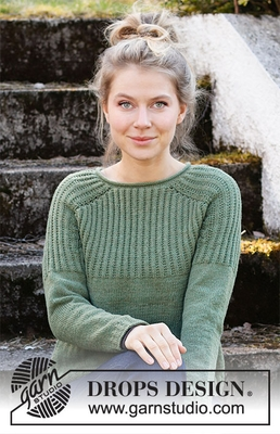 215-9 Lucky Clover Sweater by DROPS Design