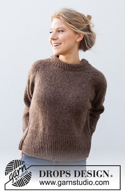 216-12 Autumn Pathways Sweater by DROPS Design