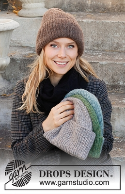 214-67 Winter Smiles Hat by DROPS Design