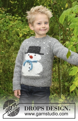 30-28 Frosty's Christmas Kids by DROPS Design