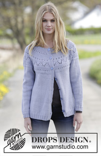 Lovely & Blue Cardigan by DROPS Design