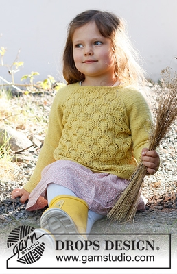 38-12 Sweet Marigold Sweater by DROPS Design