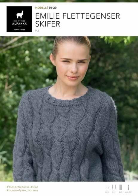 3d4b8844 DSA60-20 Emilie Flettegenser Skifer - Køb billigt her