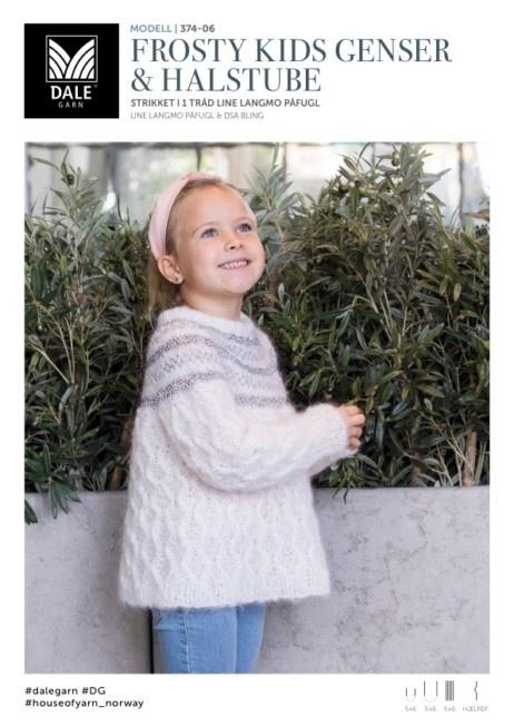 93bcf674 DG374-06 Frosty Kids Genser & Halstube - Køb billigt her