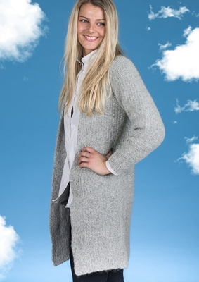 1561 Lang Cardigan i Mayflower Sky