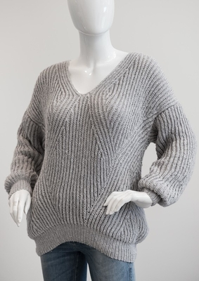 1698 Patentstrikket Sweater
