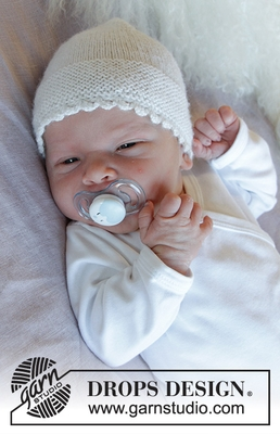 33-17 Baby Pearl Hat by DROPS Design