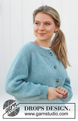 215-30 Frozen Lake Cardigan by DROPS Design