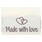 Go Handmade Vævet Label, Dobbeltsidet, 35 x 19 mm, 10 stk-Made with love3