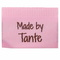 Go Handmade Vævet Label, Dobbeltsidet, Pink, 35 x 19 mm, 10 stk Made by Tante