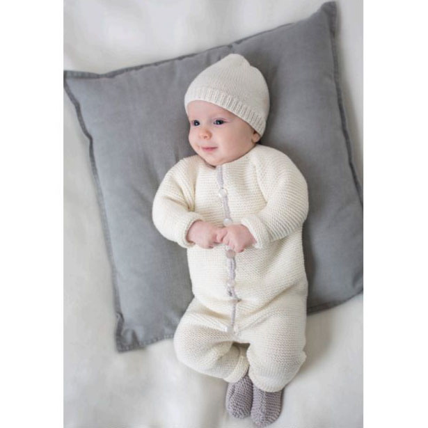 nem strikket baby kjole