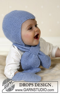 14-16 Baby Aviator Hat by DROPS Design